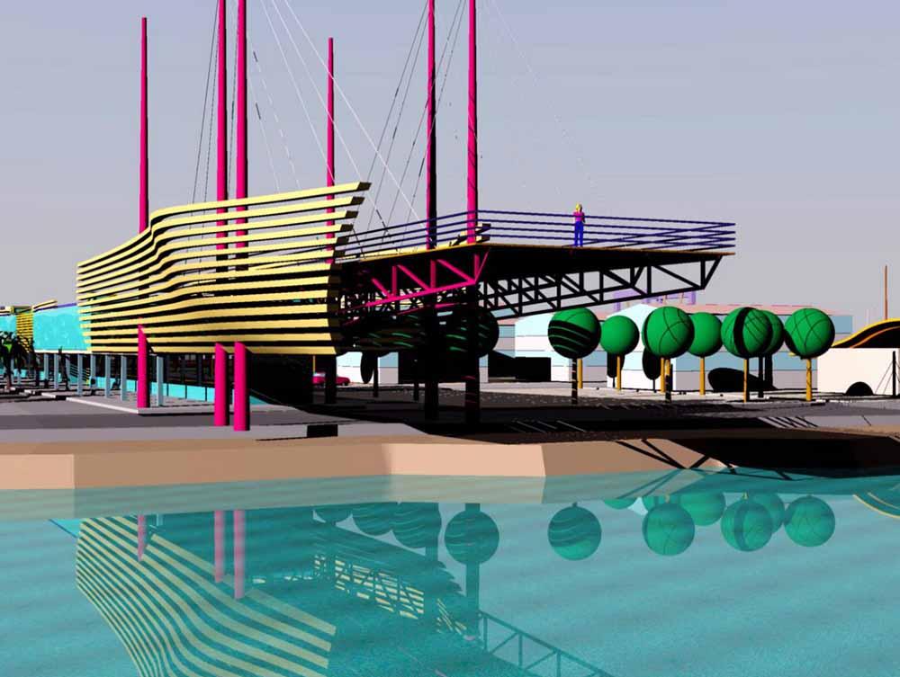 Elaborazioni virtuali su ampliamento funzionale del porto di San Benedetto del Tronto