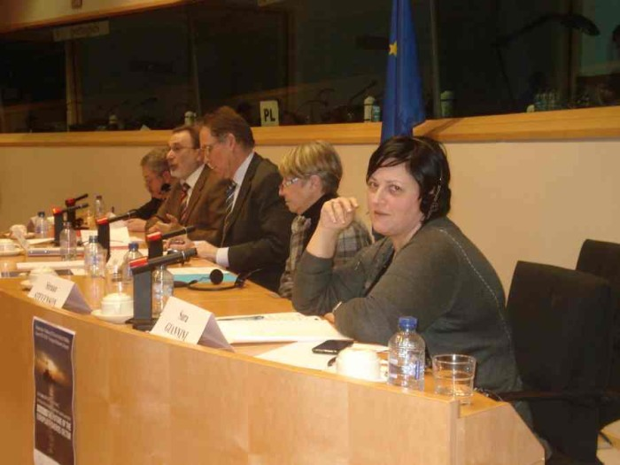 Sara Giannini a Bruxelles