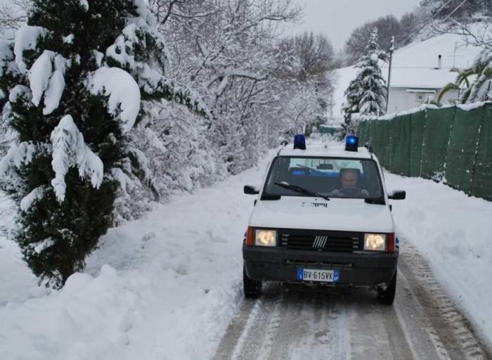 neve, intervento dei vigili