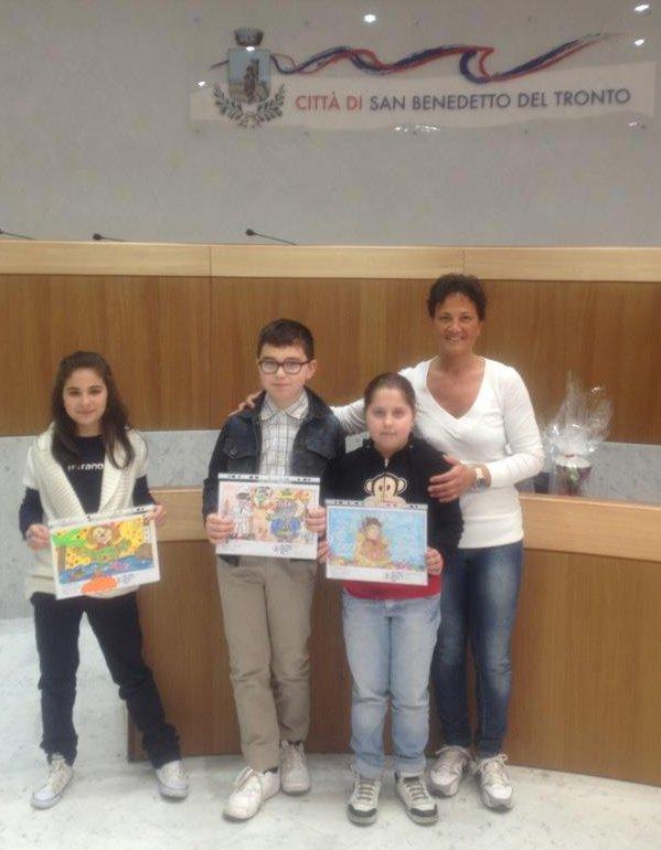 I tre vincitori (Grazia Falleroni e la prima a sinistra)