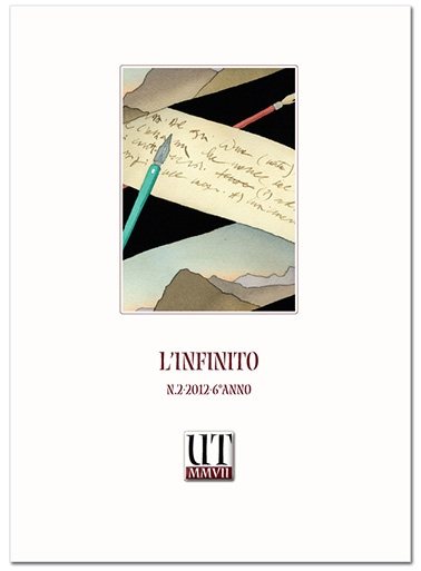 """copertina del numero su """"L'Infinito"""", illustrazione di Piero Crida """"Elicoidale infinita"""", particolare"""