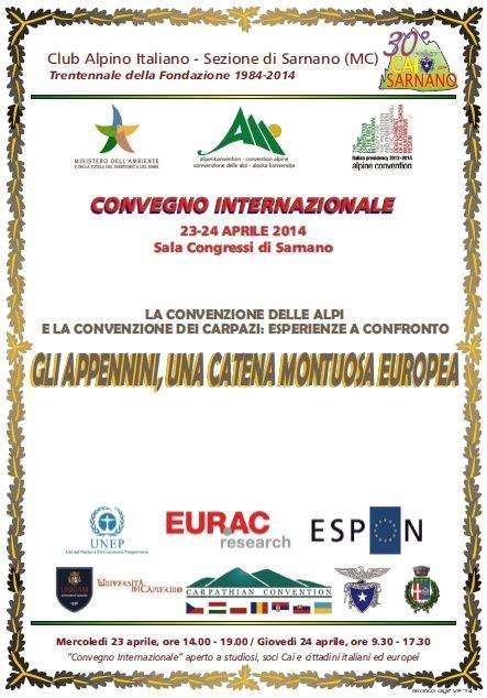La Convenzione delle Alpi e la Convenzione dei Carpazi: esperienze a confronto. Gli Appennini, una catena montuosa europea