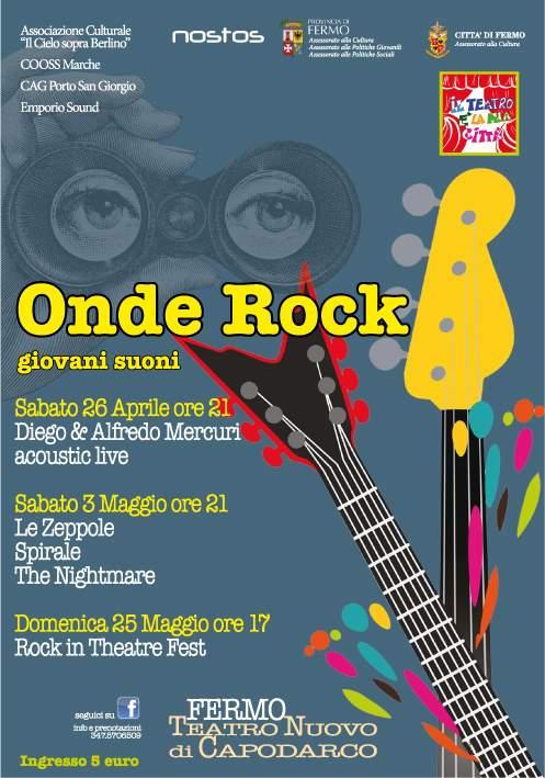 """Secondo appuntamento per la rassegna """"Onde Rock – Giovani Suoni al Teatro Nuovo di Capodarco"""