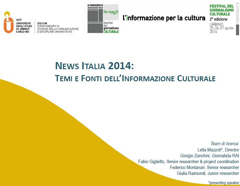Festival del Giornalismo Culturale: i temi e le fonti dell'informazione culturale