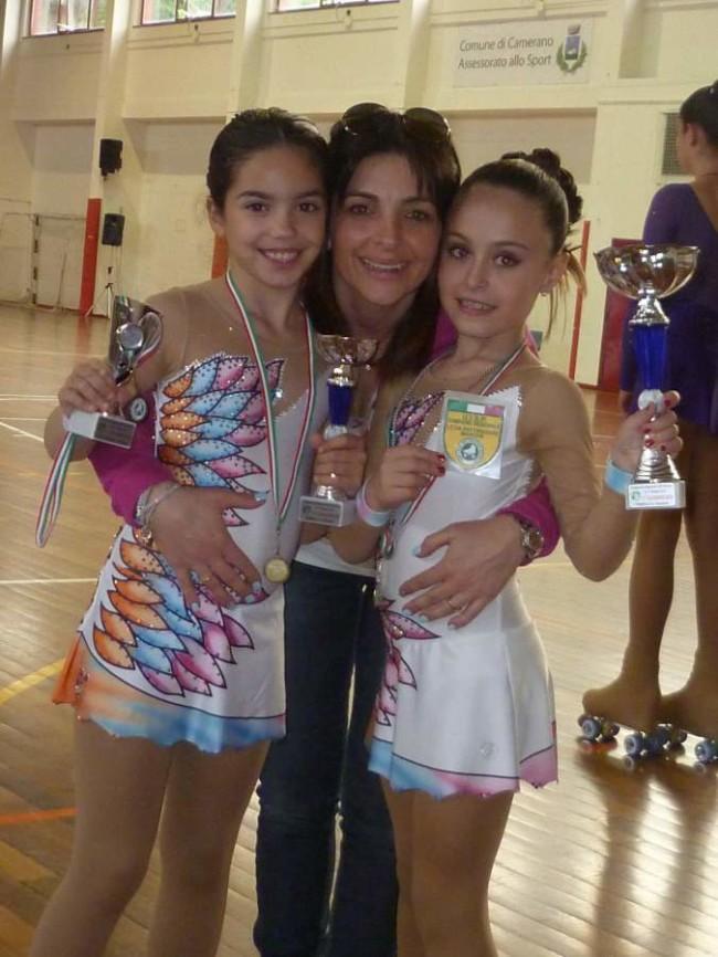 Laura Giantomassi e Beatrice Faini con la loro allenatrice Grazia Corradetti
