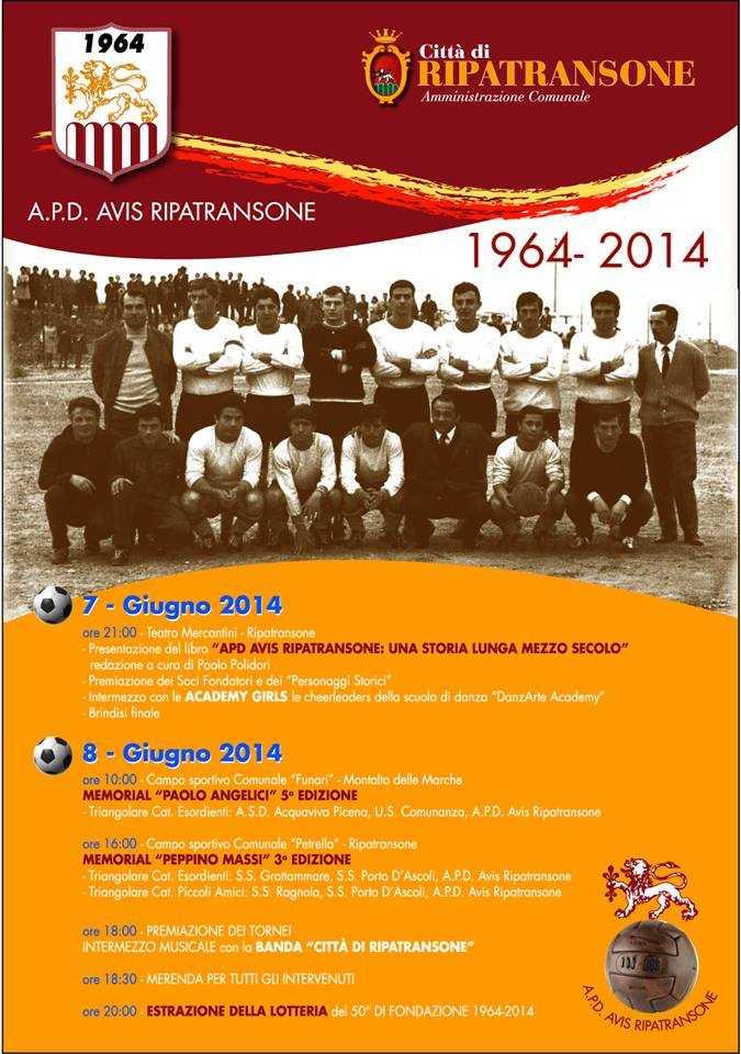 Ripatransone festeggia i 50 anni dalla nascita dell'A.P.D. Avis!