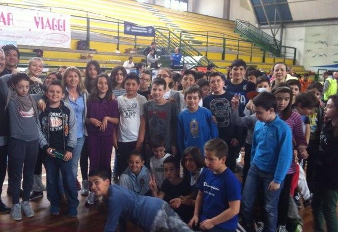Gli alunni della Bice Piacentini al PalaSpeca per i campionati italiani di Subbuteo