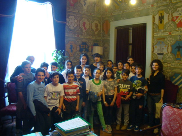 classe 1a C - Scuola media Ugo Betti ricevuta dal Sindaco Brambatti