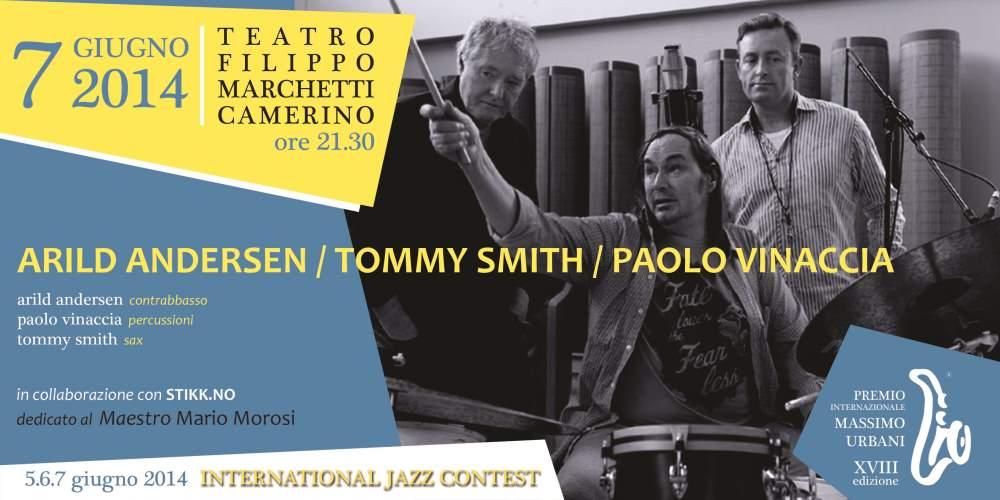 Trio Andersen – Vinaccia –  Smith per chiudere il Premio Internazionale Massimo Urbani