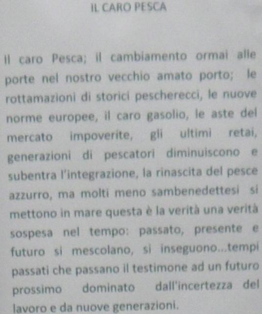 """Alberto Cicchini, """"Il caro pésca"""""""