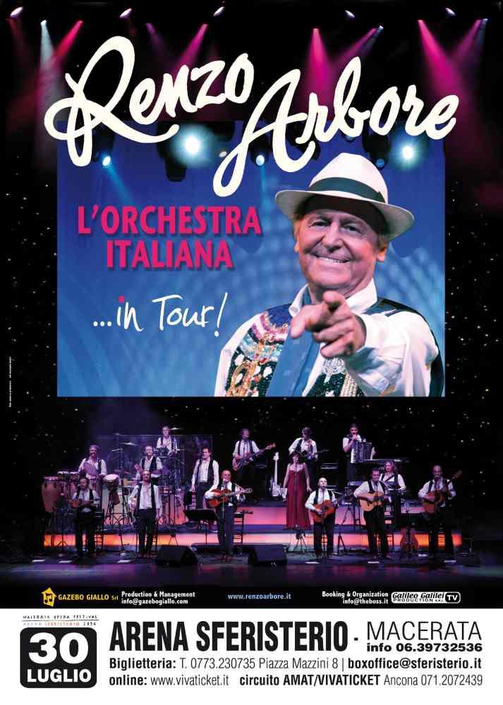 """Renzo Arbore L'Orchestra Italiana allo Sferisterio con """"Reginella"""""""