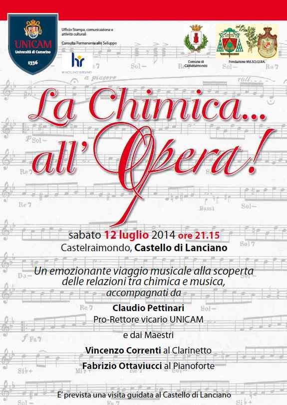 """UniCam presenta """"La Chimica all'Opera"""""""