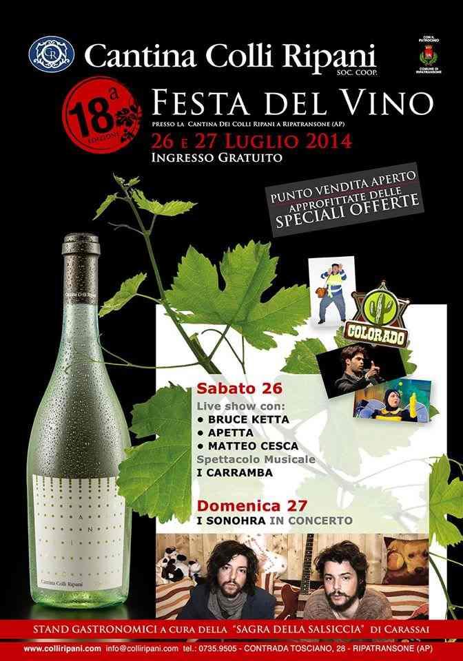 La Festa del Vino alla Cantina dei Colli Ripani