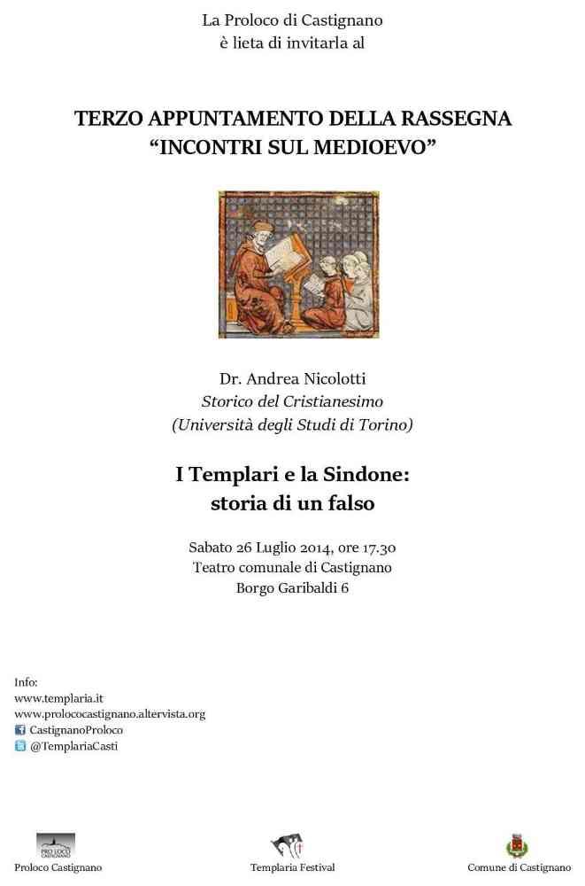 """Ultimo appuntamento con """"Incontri sul Medioevo"""" in attesa di Templaria Festival"""