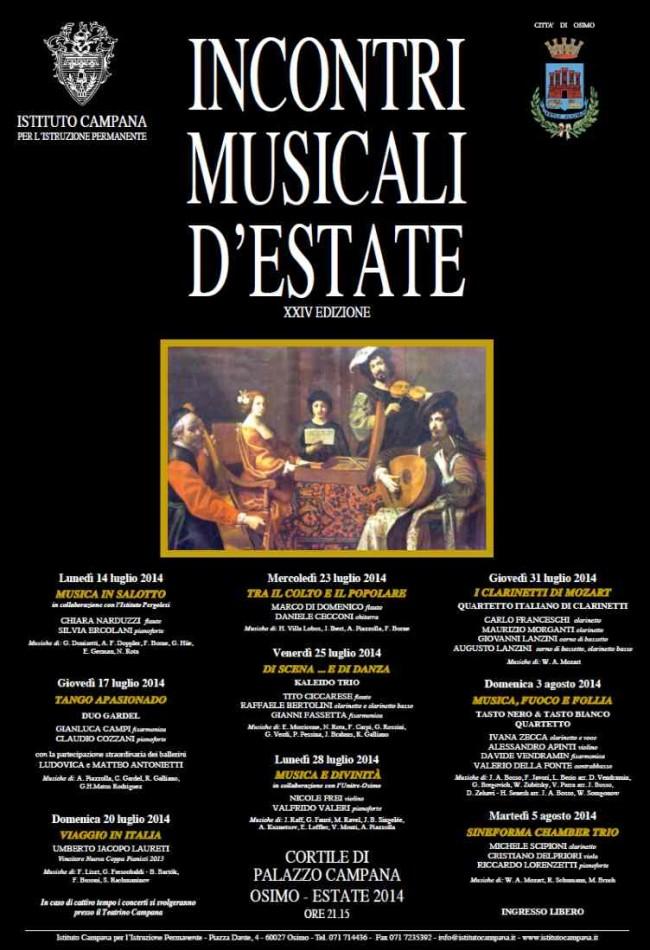 Incontri Musicali d'Estate 2014