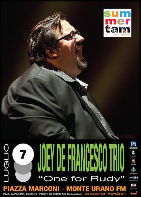 """Tam, Tutta un'Altra Musica con Joey De Francesco Trio """"One for Rudy"""""""