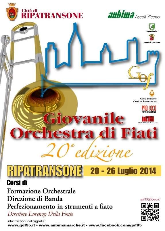 Giovanile Orchestra di Fiati, arrivano a Ripatransone strumentisti da tutto il mondo