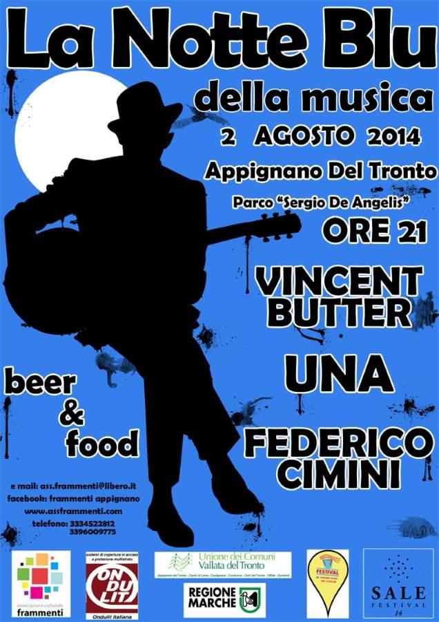 """La """"Notte Blu della Musica"""" ad Appignano"""