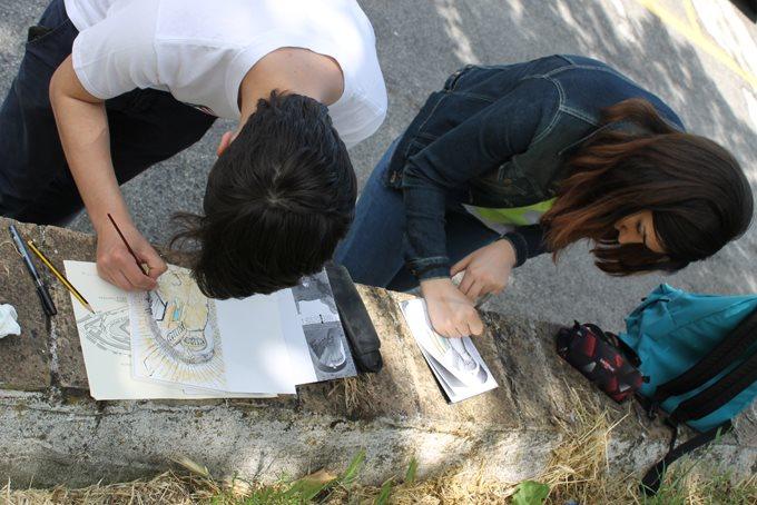 Appunti e schizzi di viaggio, i ragazzi dei licei artistici di Ascoli e Fermo alla scoperta di Acquaviva