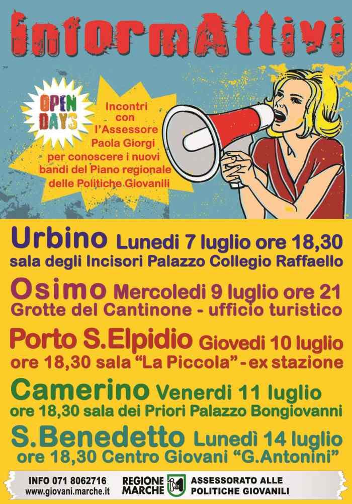 InformAttivi, incontro a San Benedetto per illustrare il Piano delle Politiche Giovanili