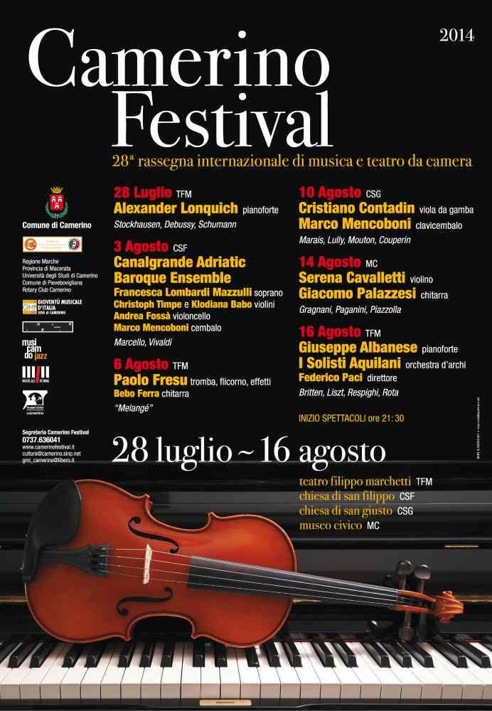 Apertura della biglietteria del Camerino Festival