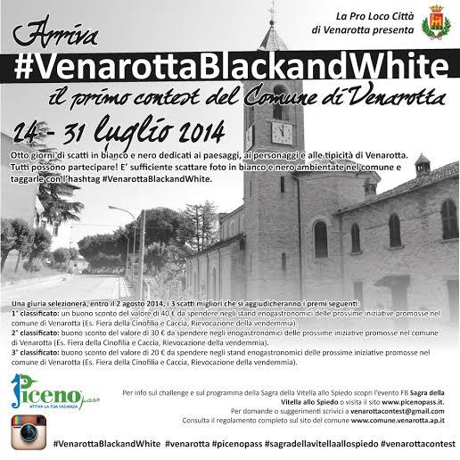 Arriva #VenarottaBlackandWhite: con Instagram riscopri il bianco e nero