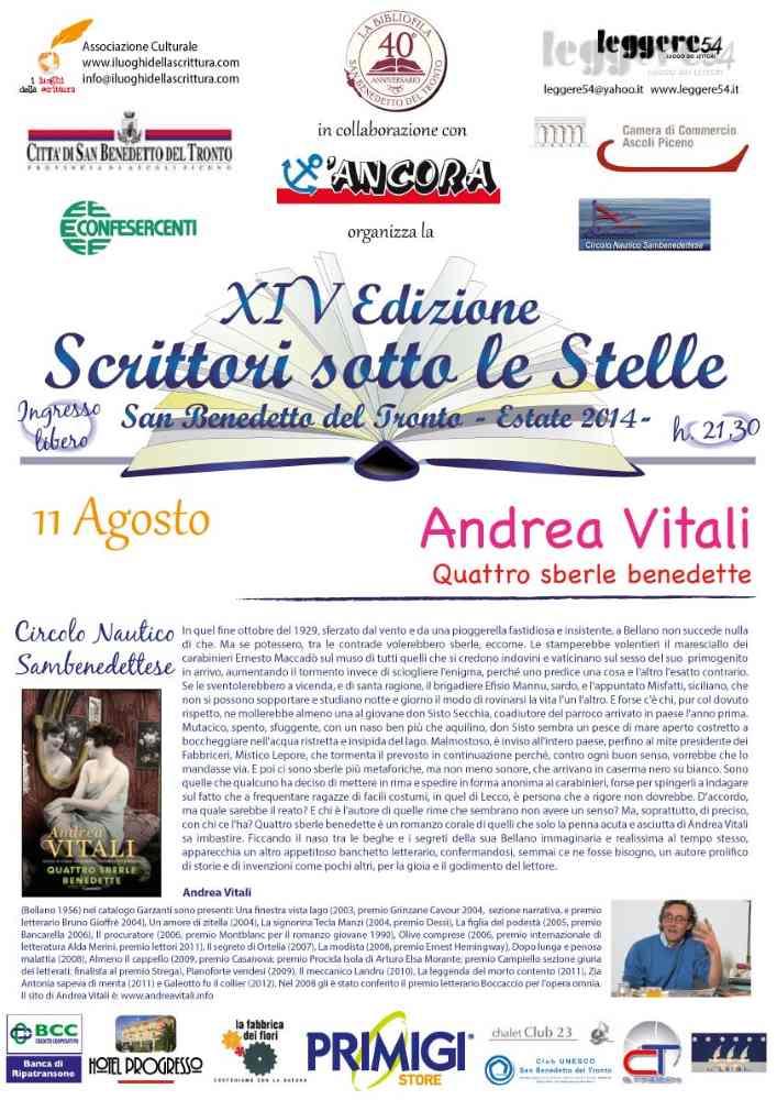 """Andrea Vitali, """"Quattro sberle benedette"""" al Circolo Nautico"""
