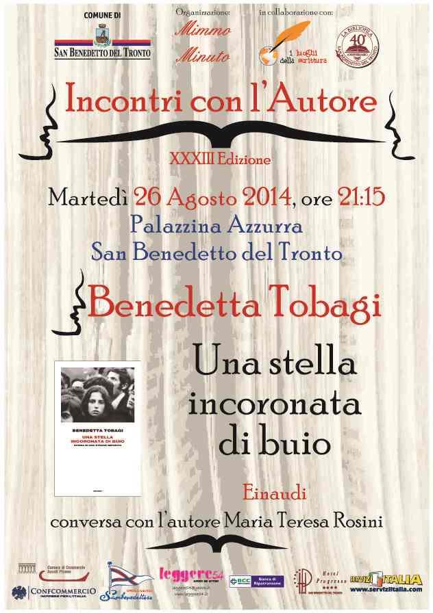 """Benedetta Tobagi, """"Una stella incoronata di buio"""" alla Palazzina Azzurra"""