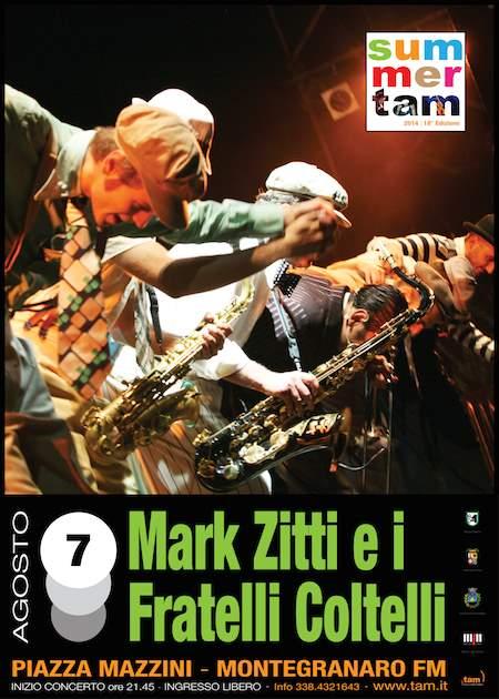Tam, Tutta un'Altra Musica con Mark Zitti e i Fratelli Coltelli a Montegranaro