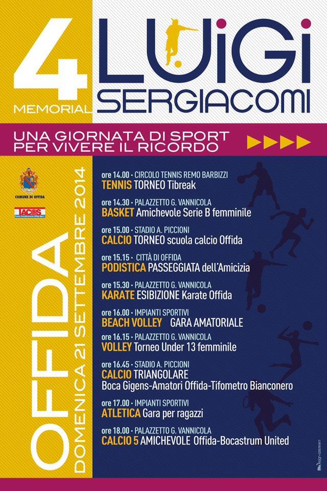 """Il Memorial """"Luigi Sergiacomi"""" giunge alla sua quarta edizione"""