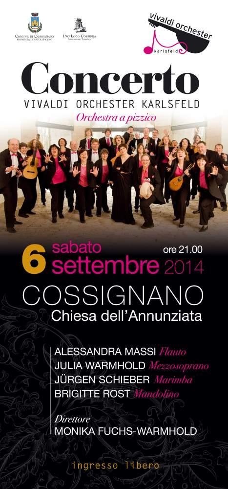Concerto Vivaldi Orchester Karlsfeld a Cossignano