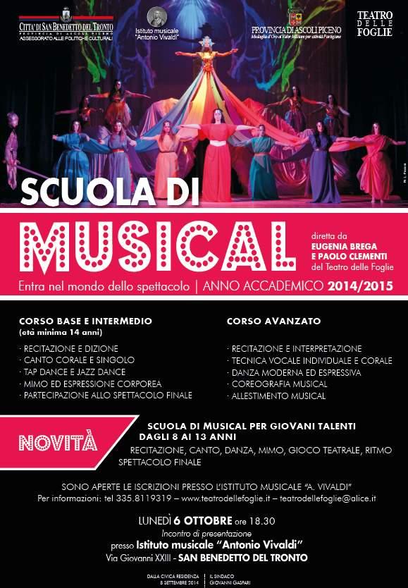 Scuola di Musical dell'Istituto 'A. Vivaldi', nasce una sezione dedicata ai piccoli talenti