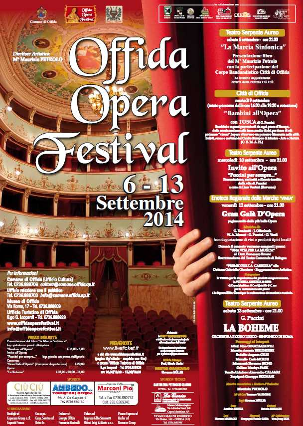 Offida Opera Festival, il sipario del Serpente Aureo si apre su La Bhoème