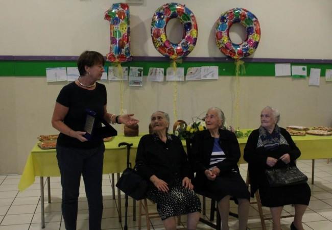 Elvira Nardi, 100 anni festeggiati con il Sindaco Nella Brambatti