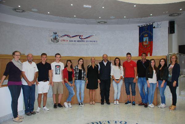 Studenti austriaci ricevuti in Municipio
