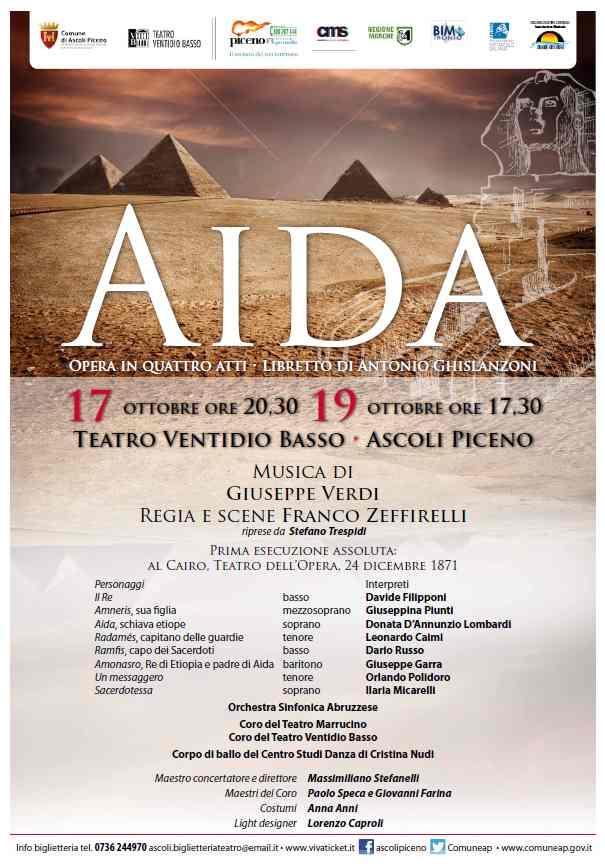 Torna la grande lirica al Teatro Ventidio Basso con Aida
