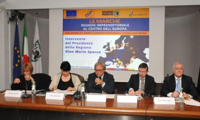 14_11_2014_Le Marche Regione imprenditoriale al centro dell'Europa intervento di Spacca