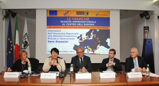 14_11_2014_Le Marche Regione imprenditoriale al centro dell'Europa intervento di Sara Giannini