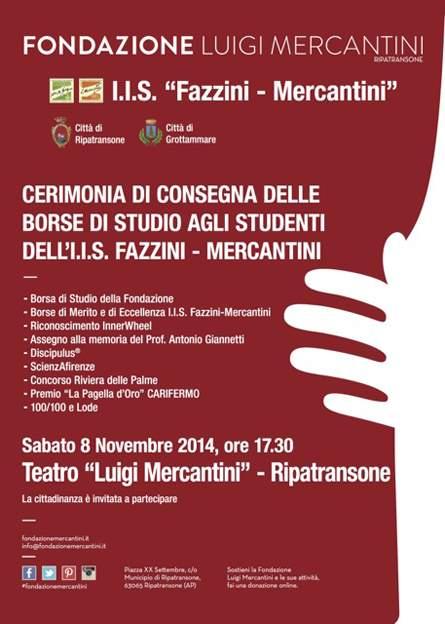 L'IIS Fazzini-Mercantini investe in borse di studio, cerimonia di consegna al Teatro Mercantini