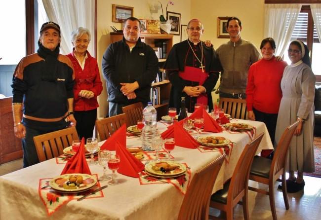 Vescovo - pranzo di Natale