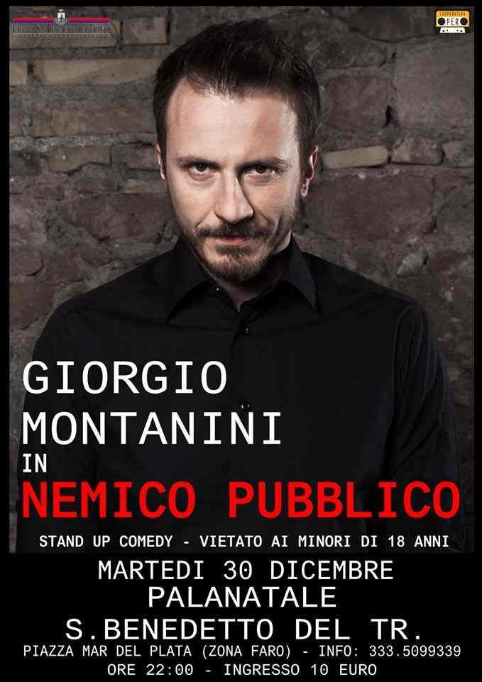 """Giorgio Montanini sbarca al PalaNatale con """"Nemico Pubblico"""""""