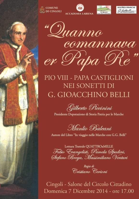 Quanno comannava er Papa Re… a Cingoli