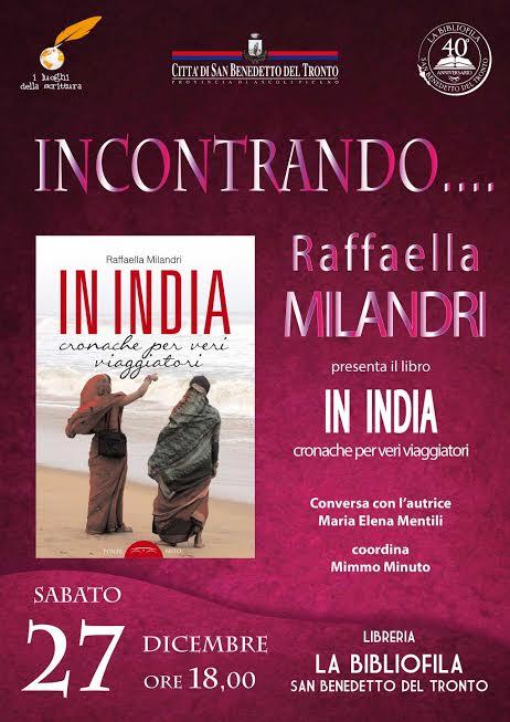 """Incontrando… Raffaella Milandri, """"In India"""""""