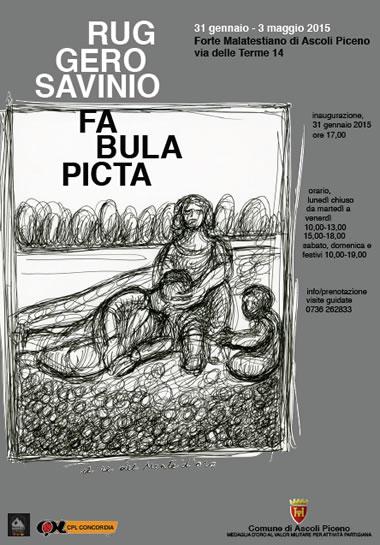 """Ruggero Savinio, """"Fabula picta"""" al Forte Malatesta"""