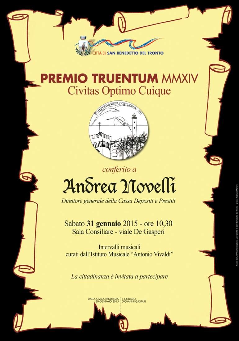 Premio Truentum ad Andrea Novelli