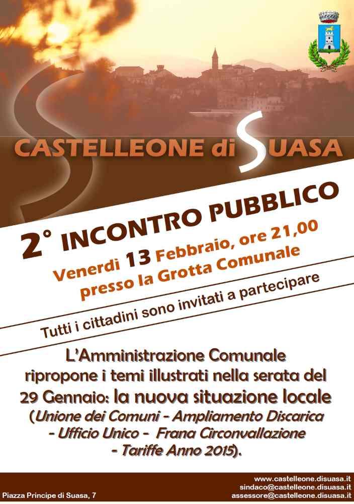 """2° """"Incontro Pubblico"""" il 13 Febbraio a Castelleone"""