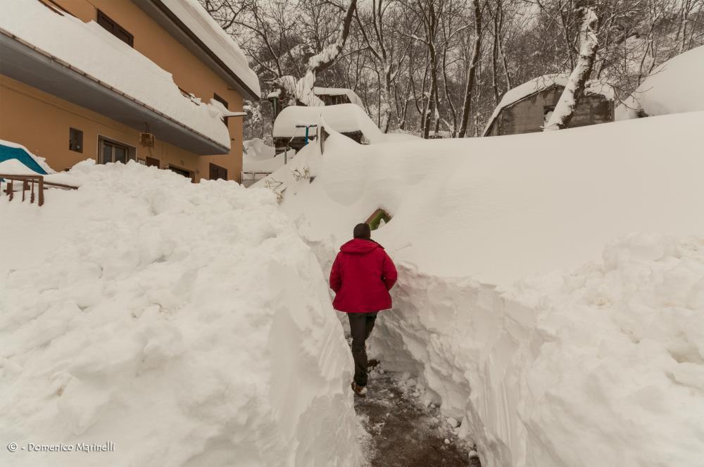 Nevicata storica a Valle Castellana
