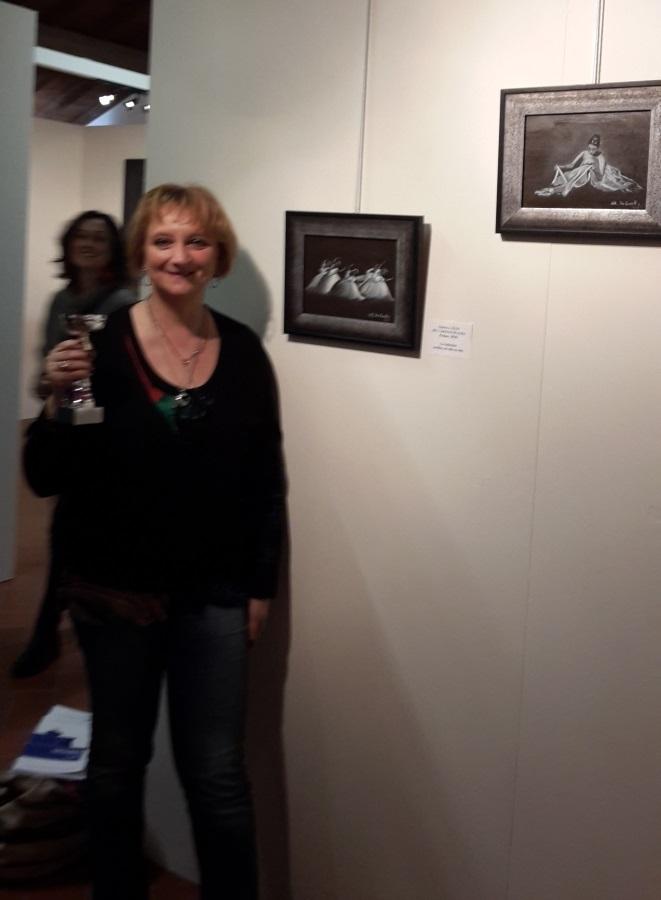 """Maura De Carolis si aggiudica il premio speciale """"Emergenti"""" al Concorso Internazionale d'Arte Ligures"""