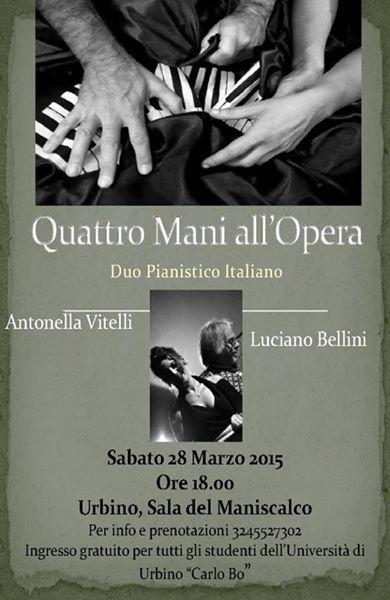 """Recital del Duo Pianistico Italiano """"Quattro mani all'opera"""""""