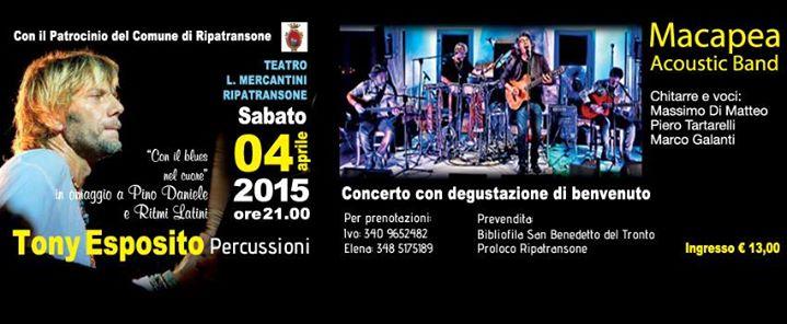 Tony Esposito al Teatro Mercantini